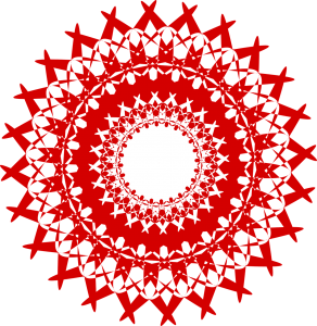 Red Mandala - Root Chakra - Money Chakra